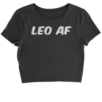 Leo AF As F-ck Zodiac Cropped T-Shirt