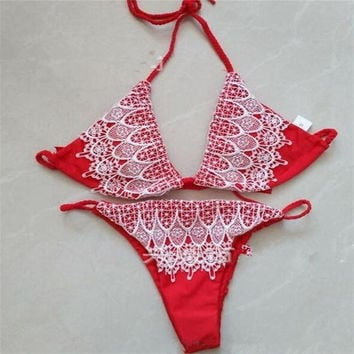 sexy lace bikinis brazilian swimwear triangle thong swimsui biquinis feminino 2017 micro bikini push up lace bathing suits women