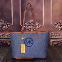 MK Women Shopping Bag Leather Satchel Tote Shoulder Bag