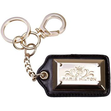 DCCKIS3 Paris Hilton Handbags - Signature Gold & Black Keychain