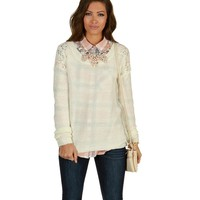 Sale-ivory Cozy Up Sweater