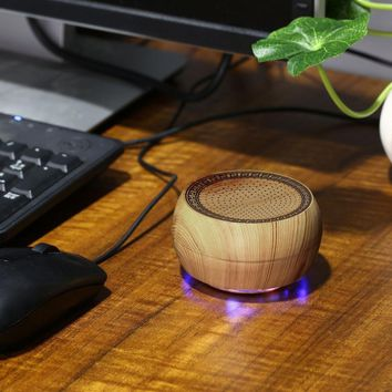 Mini Wooden Chess Wireless Bluetooth Portable USB Speaker Music Super Bass