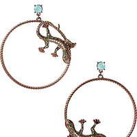 REPTILES LIZARD HOOP EARRINGS