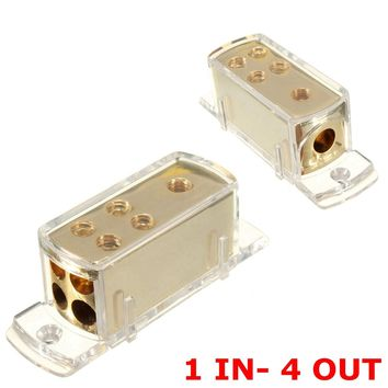Brand New 4 Ways Car Audio Stereo Amp Power Ground Cable Splitter Distribution Block