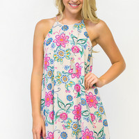 Dainty Floral Lined Dress