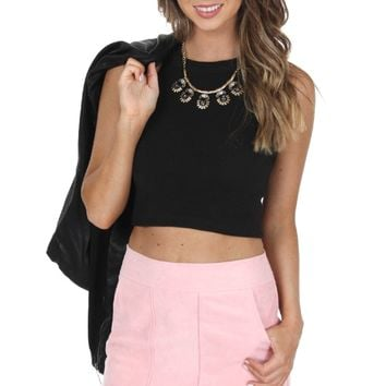 Pink Suede Mini Skirt