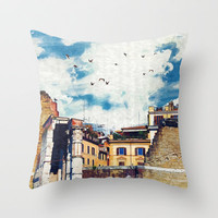 The (Old-New) Dream City  Throw Pillow by Paula Belle Flores