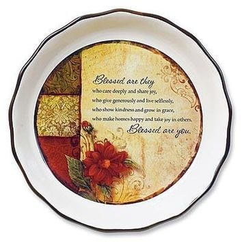Blessed Are You - Pie Plate