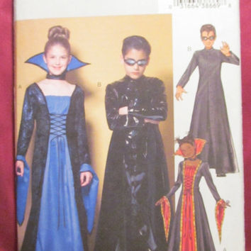 SALE Uncut Butterick Sewing Pattern, 4314! Size 12-14-16 Kids/Teens/Pre-teens/Girls/Boys, Matrix Costumes/Evil Queen/Standing Collar