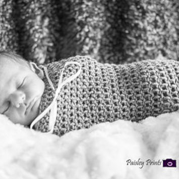 Crochet Baby Cocoon, Great for Photo Props or Swaddling, You Pick Color