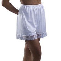 Underworks Pettipants Nylon Culotte Slip Bloomers Split Skirt 4-inch Inseam 3-Pack $22.99