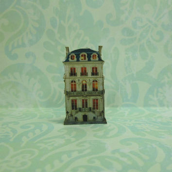 Dollhouse Miniature Townhouse Stand Up Decoration