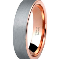 5mm Tungsten Rings Wedding Engagement Band Promise Brushed [4mm, 5mm, 6mm, 7mm, 8mm]