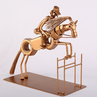 Horse Jumping - MetalDiorama Metal Art Sculpture