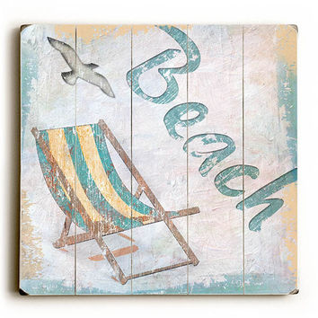 Beach Wood Sign