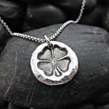 Four Leaf Clover Irish / Celtic Necklace - Artisan