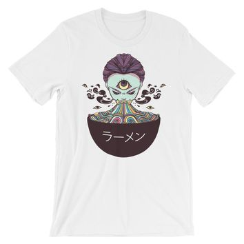 Magic Rainbow Ramen, White Unisex T-Shirt