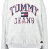 Tommy Hilfiger Fashion Casual Long Sleeve Sport Top Sweater Pullover Sweatshirt Grey I
