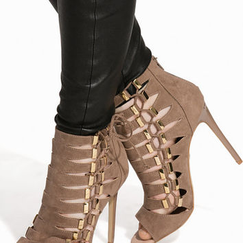 Gold Trim Shoeboot, River Island