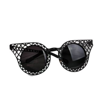 Caged Round Sunglasses