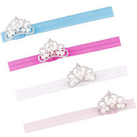 Lovely 1 Pcs Crown Pearl Hair Band Princess Tiara Headband for Baby Girls 3C