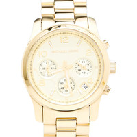 Michael Kors Runway Watch in Metallic Gold