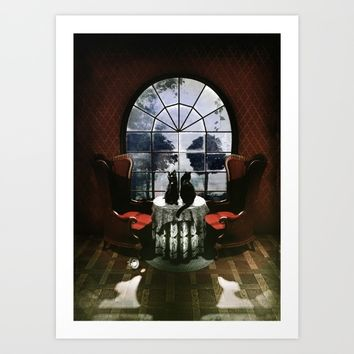 Room Skull Art Print by Ali GULEC
