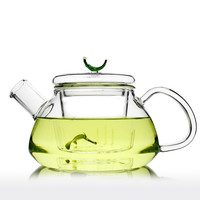Handmade Gift Clear Glass Teapot with Infuser Filter Strainer 300ml / 600ml - Loarre Unihom