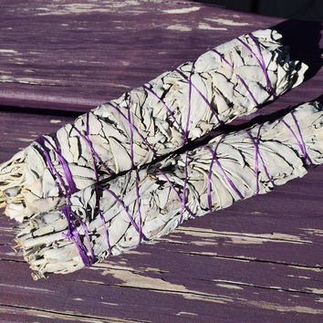 "Large White Sage Bundle - 8"" Long Sage Smudge Stick for Smudging Clear Negative Energy"