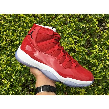 9af2f0d48a60f Air Jordan Retro 11 Gym Red Chicago Basketball Shoes Men Women 11s Gym Red  Black White
