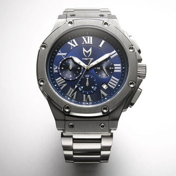 Meister Ambassador AM138SS Silver Blue Watch