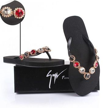 shosouvenir  : Giuseppe Zanotti Women Rhinestone Slippers Sandals Shoes