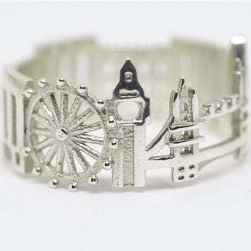 London Cityscape Statement Ring