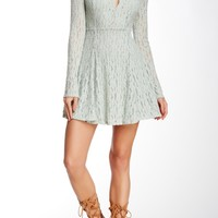 Corded Lace Fit & Flare Dress