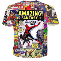 Spider Man Comic Shirt
