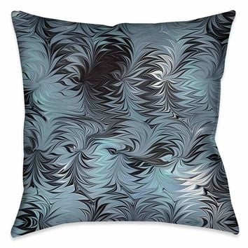Hypnotic Blue Marble Decorative Pillow