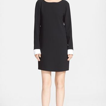 Women's Theory 'Amszia' Contrast Cuff Shift Dress,