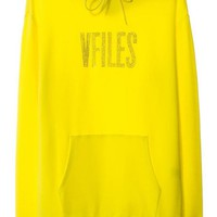 VFILES SHOP   VFILES HOODIE W/ CRYSTAL LOGO   YELLOW-YELLOW by @VFILES