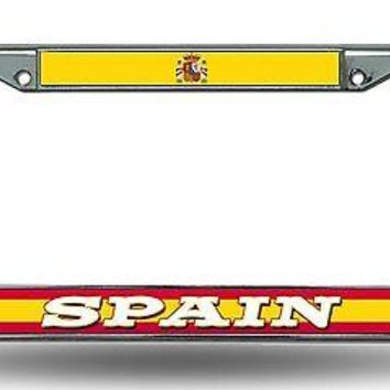 FIFA Spain Chrome Metal License Plate Tag Frame Cover World Cup Soccer Football