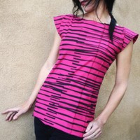 You Want The Candy - Iheartfink Handmade Hand Printed Striped Top | Luulla