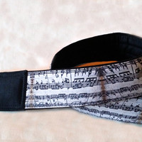 Music Camera Strap. Notes Camera Strap. Vintage Style Camera Strap. Accessories