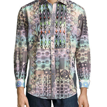 Raimondo Multi-Patterned Sport Shirt,
