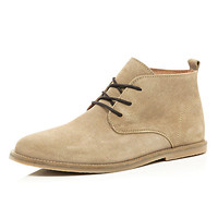 River Island MensStone suede desert boots