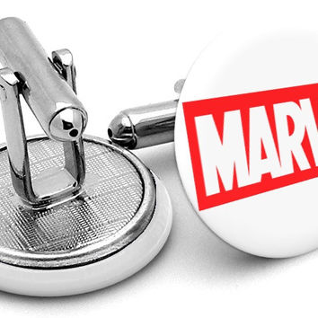 Marvel Comic Logo Cufflinks