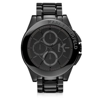 Karl Lagerfeld Designer Men's Watches Karl Energy Black Stainless Steel Men's Watch