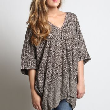 Umgee Oversized V-neck Tunic