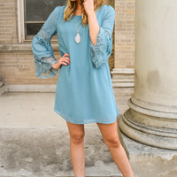 Lace & Bell Sleeve Dress