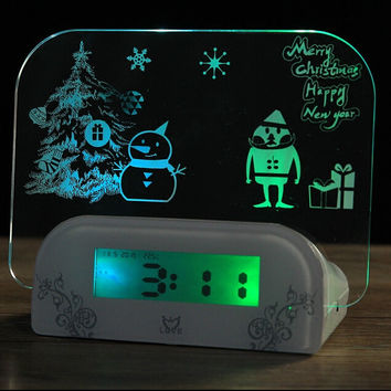 Luminova LED Digital Clock Luminous Message Board Clock