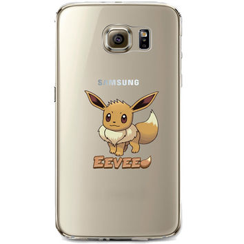 Pokemon Eevee Jelly Clear Case for Samsung Galaxy S7 Edge
