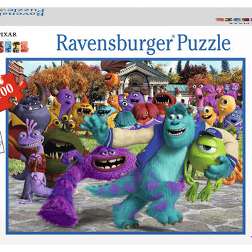 Ravensburger Disney Pixar™ Monsters University: Picture Day (100 pc XXL Puzzle in a Small Suitcase) 10576